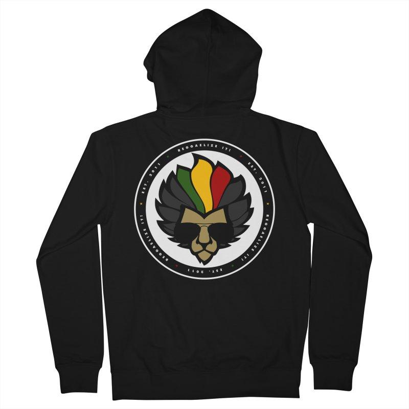 Reggaelize it! Logo Men's French Terry Zip-Up Hoody by Rasta University Shop