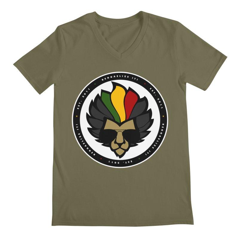 Reggaelize it! Logo Men's V-Neck by Rasta University Shop