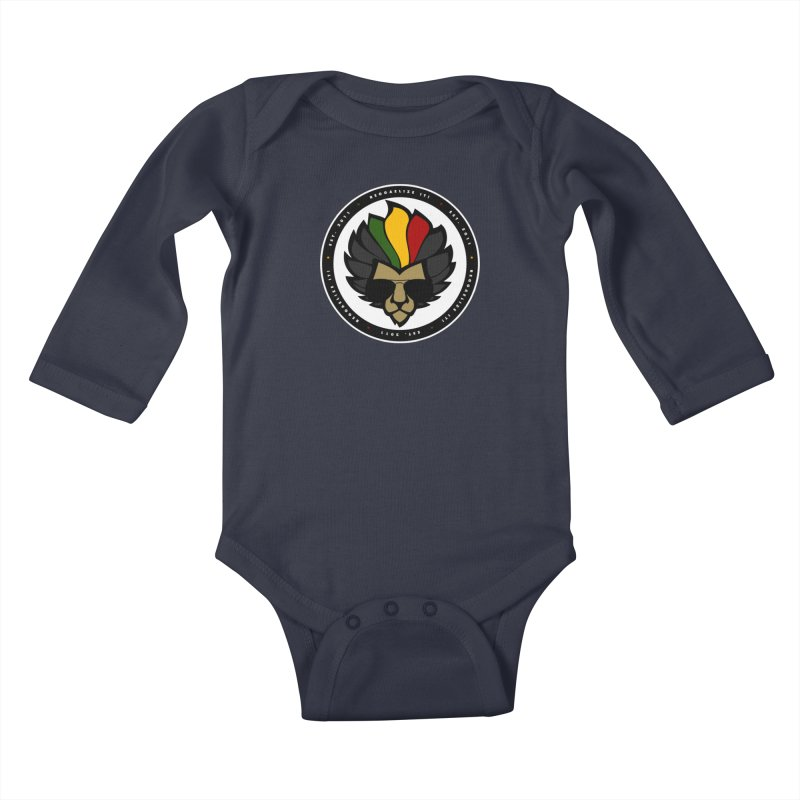 Reggaelize it! Logo Kids Baby Longsleeve Bodysuit by Rasta University Shop