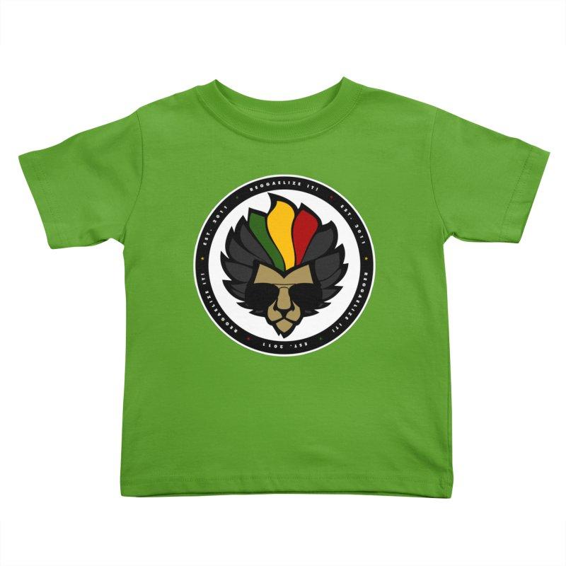 Reggaelize it! Logo Kids Toddler T-Shirt by Rasta University Shop