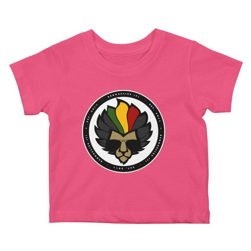 Reggaelize it! Logo Kids Baby T-Shirt by Rasta University Shop