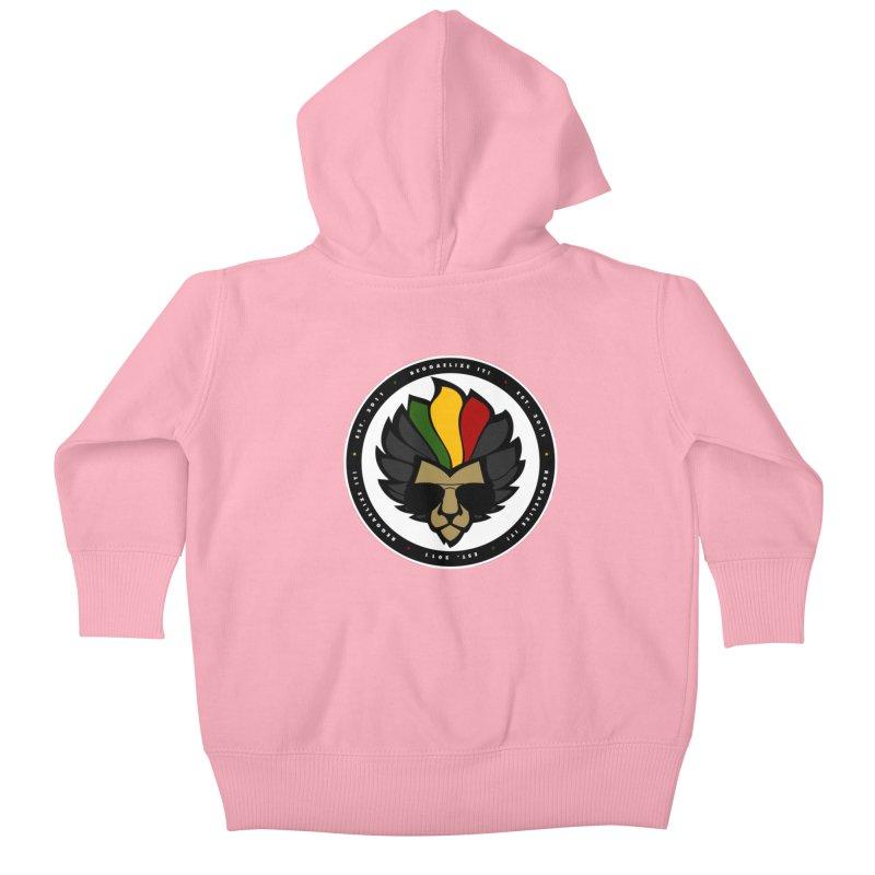 Reggaelize it! Logo Kids Baby Zip-Up Hoody by Rasta University Shop