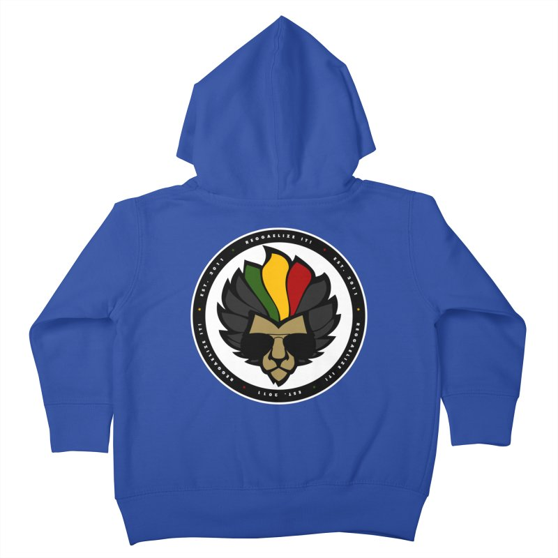 Reggaelize it! Logo Kids Toddler Zip-Up Hoody by Rasta University Shop