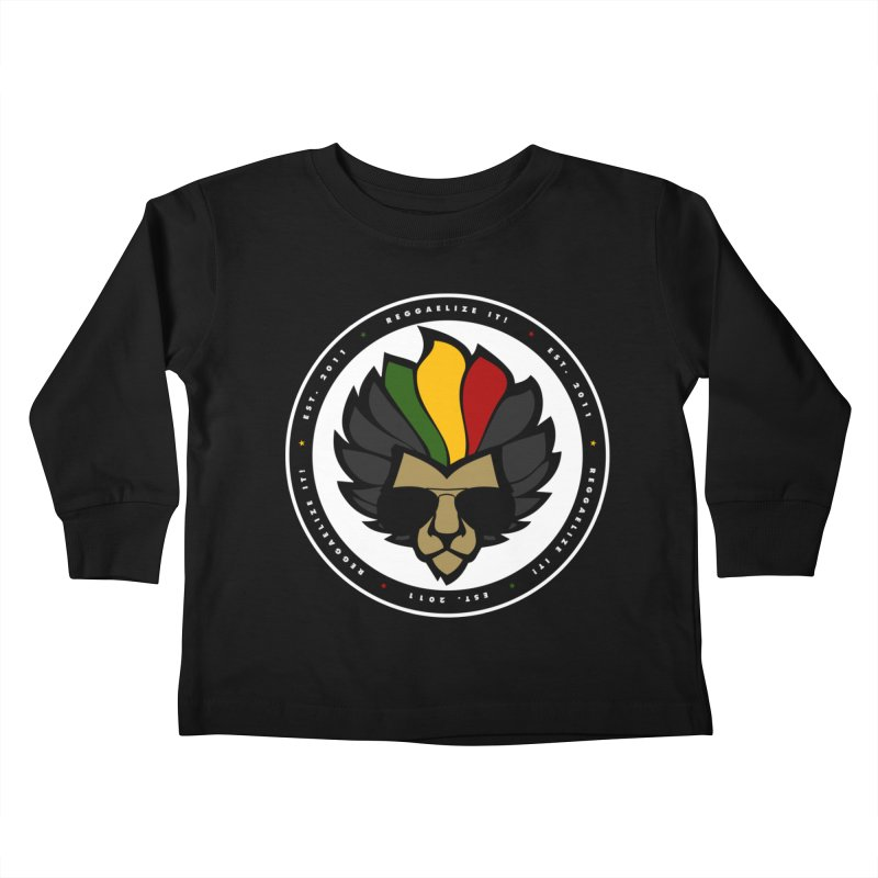 Reggaelize it! Logo Kids Toddler Longsleeve T-Shirt by Rasta University Shop