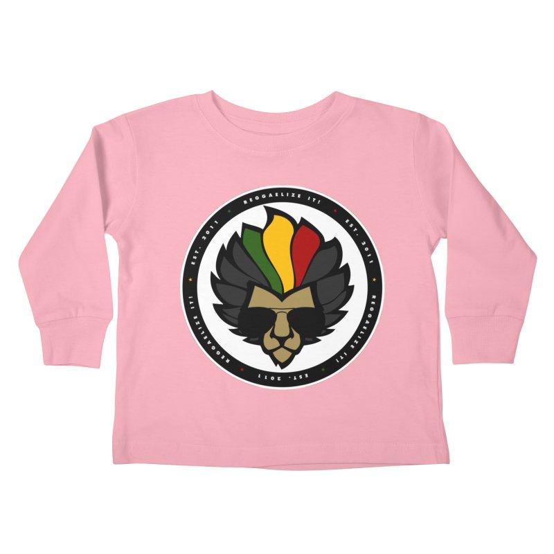 Reggaelize it! Logo Kids Toddler Longsleeve T-Shirt by Rasta University Shop