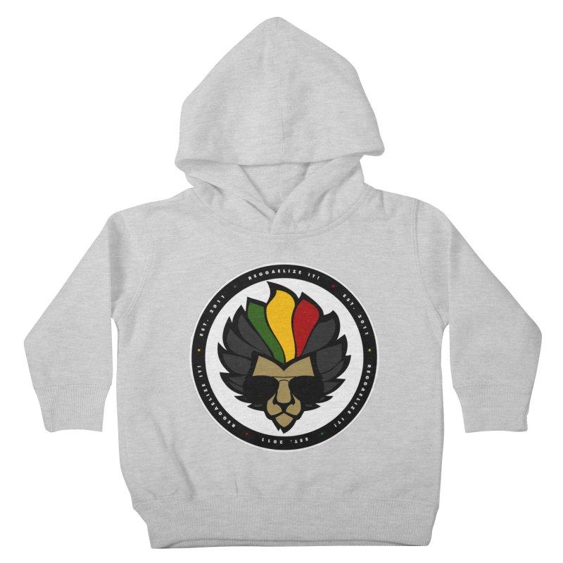 Reggaelize it! Logo Kids Toddler Pullover Hoody by Rasta University Shop