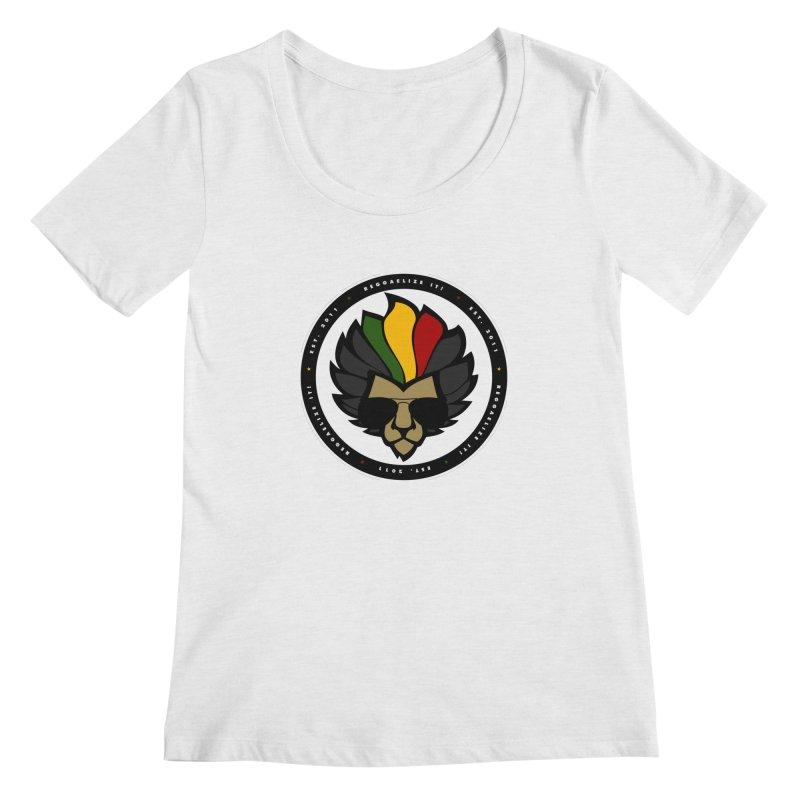 Reggaelize it! Logo Women's Regular Scoop Neck by Rasta University Shop