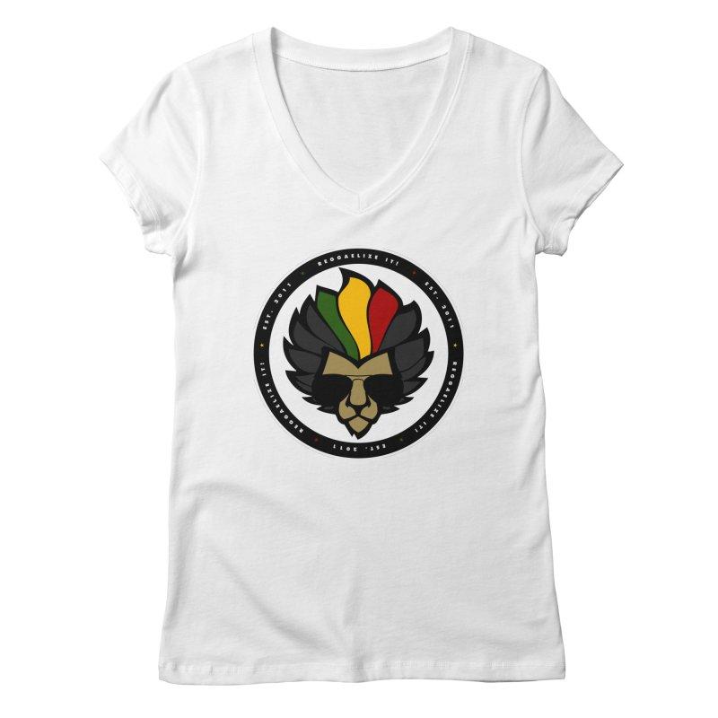 Reggaelize it! Logo Women's Regular V-Neck by Rasta University Shop