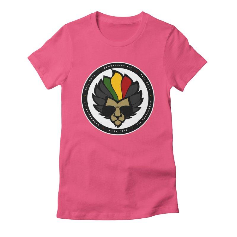 Reggaelize it! Logo Women's Fitted T-Shirt by Rasta University Shop