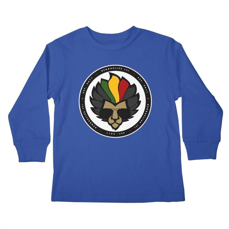 Reggaelize it! Logo Kids Longsleeve T-Shirt by Rasta University Shop