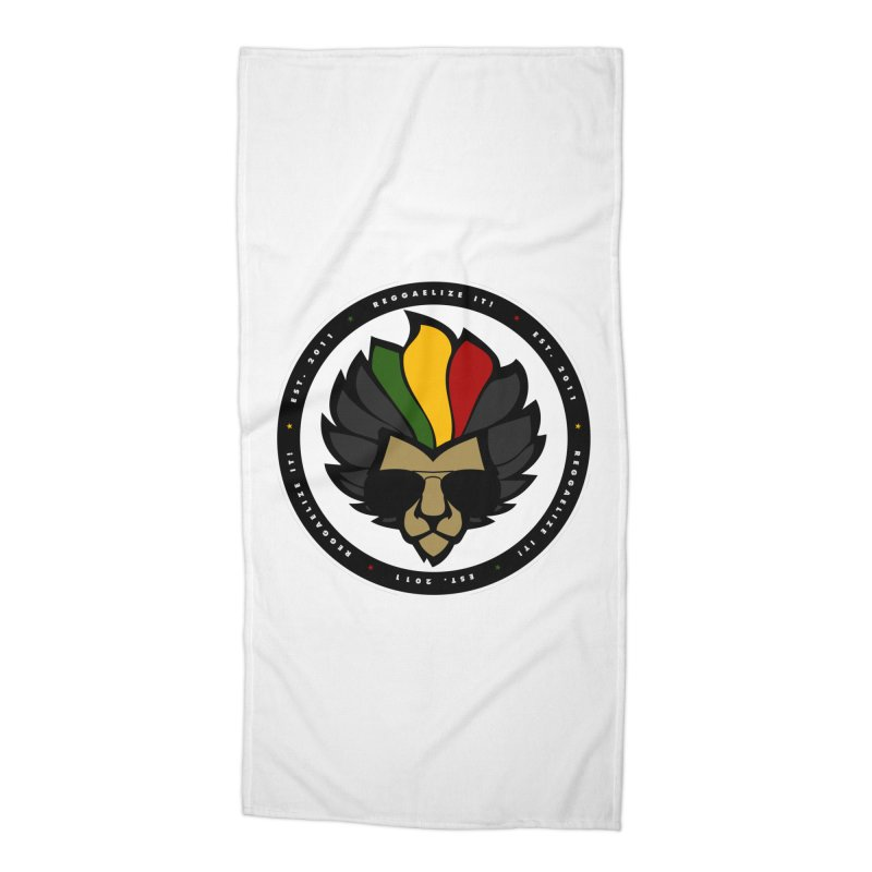 Reggaelize it! Logo Accessories Beach Towel by Rasta University Shop