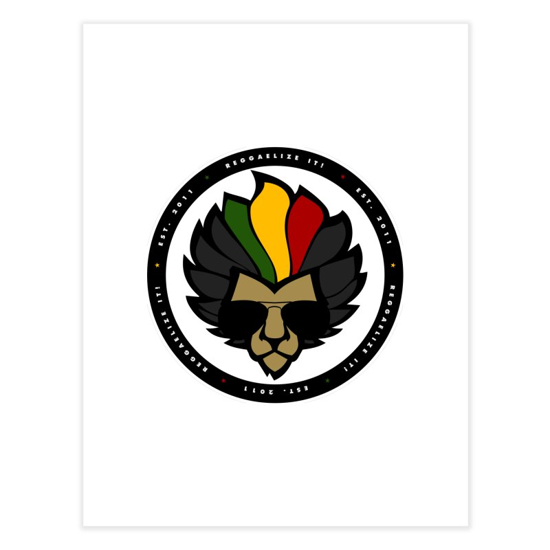 Reggaelize it! Logo Home Fine Art Print by Rasta University Shop