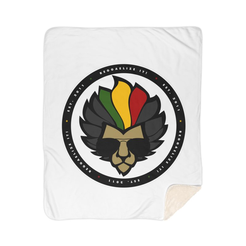 Reggaelize it! Logo Home Sherpa Blanket Blanket by Rasta University Shop