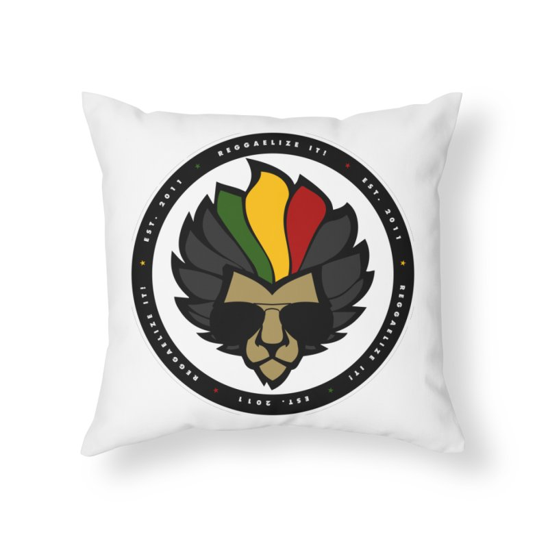 Reggaelize it! Logo Home Throw Pillow by Rasta University Shop