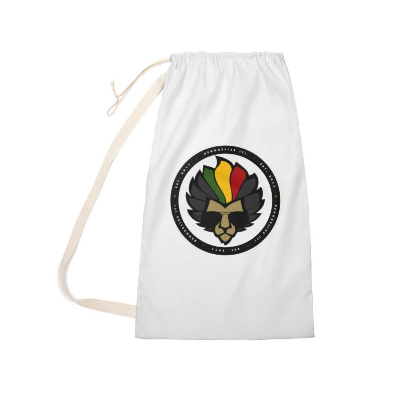 Reggaelize it! Logo Accessories Laundry Bag Bag by Rasta University Shop