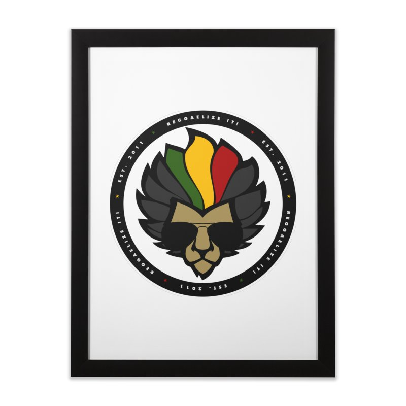 Reggaelize it! Logo Home Framed Fine Art Print by Rasta University Shop