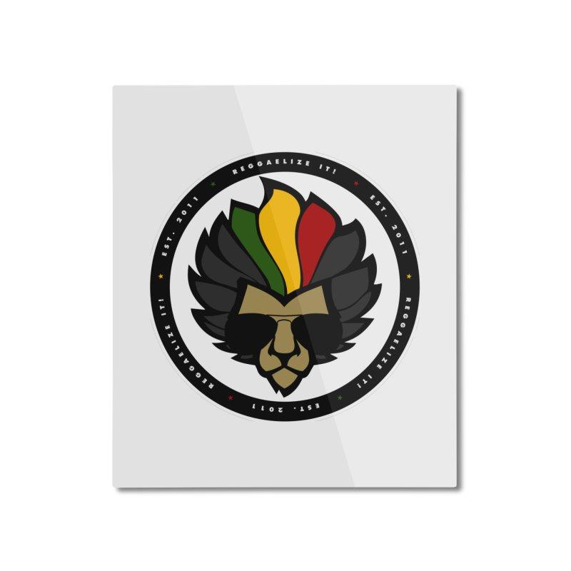 Reggaelize it! Logo Home Mounted Aluminum Print by Rasta University Shop