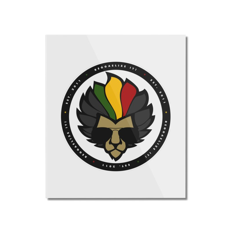 Reggaelize it! Logo Home Mounted Acrylic Print by Rasta University Shop