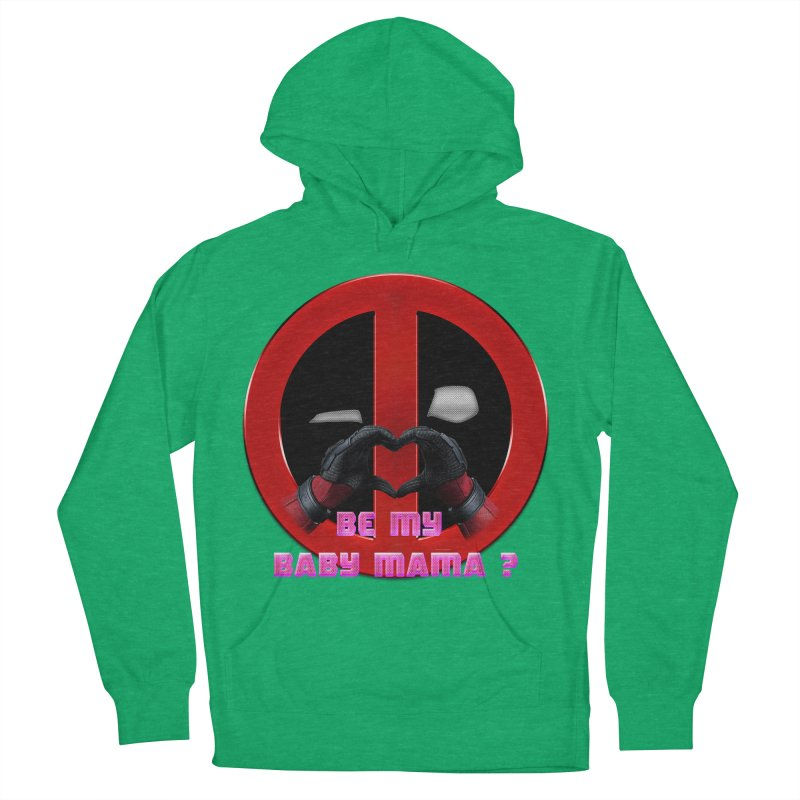 DeadPool Heart H Be My Baby Mama 2 Men's Pullover Hoody by ratherkool's Artist Shop