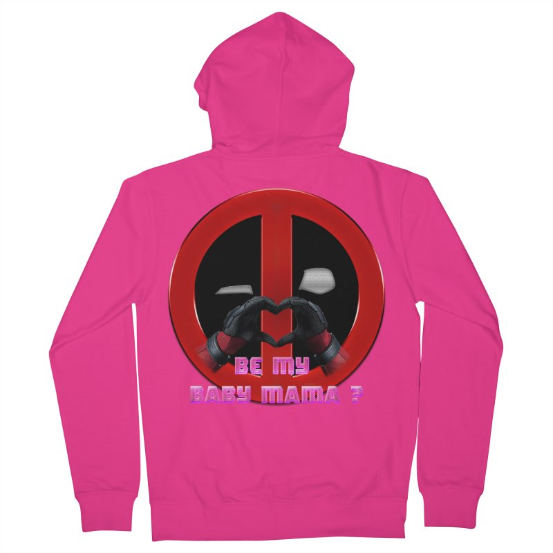DeadPool Heart H Be My Baby Mama 2 Men's Zip-Up Hoody by ratherkool's Artist Shop