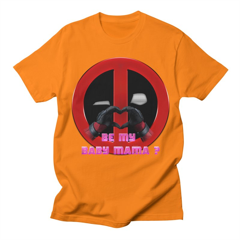 DeadPool Heart H Be My Baby Mama 2 Men's T-shirt by ratherkool's Artist Shop