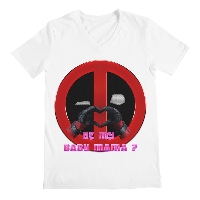 DeadPool Heart H Be My Baby Mama 2 Men's V-Neck by ratherkool's Artist Shop