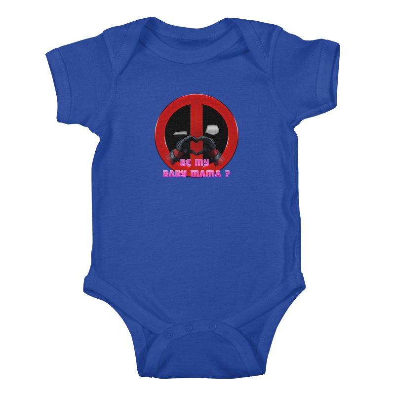 DeadPool Heart H Be My Baby Mama 2 Kids Baby Bodysuit by ratherkool's Artist Shop