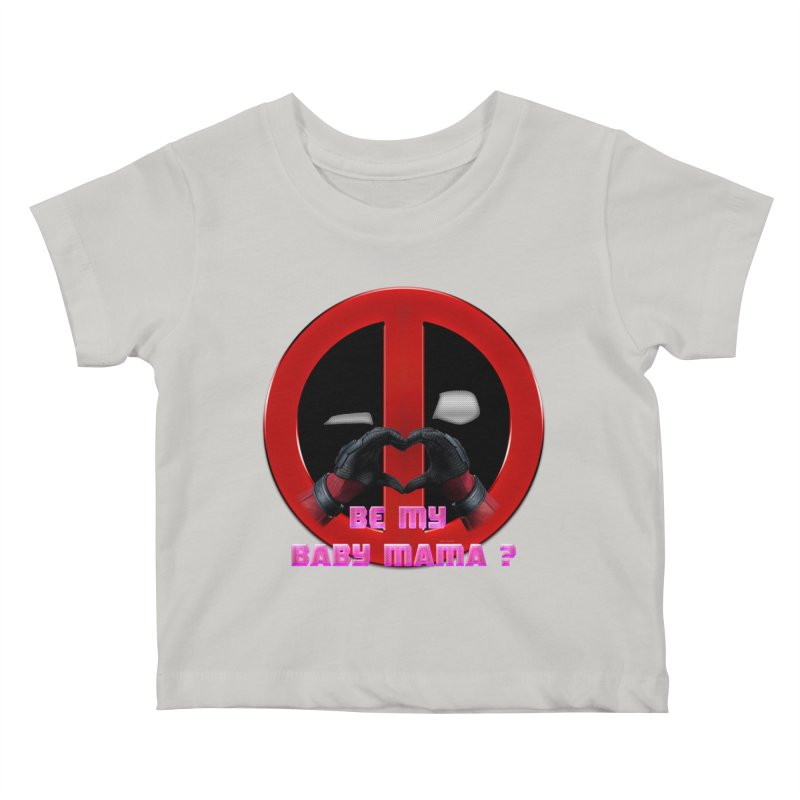 DeadPool Heart H Be My Baby Mama 2 Kids Baby T-Shirt by ratherkool's Artist Shop