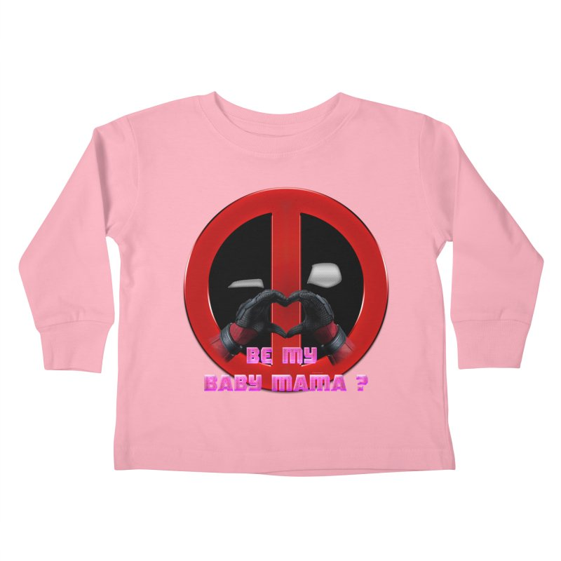 DeadPool Heart H Be My Baby Mama 2 Kids Toddler Longsleeve T-Shirt by ratherkool's Artist Shop