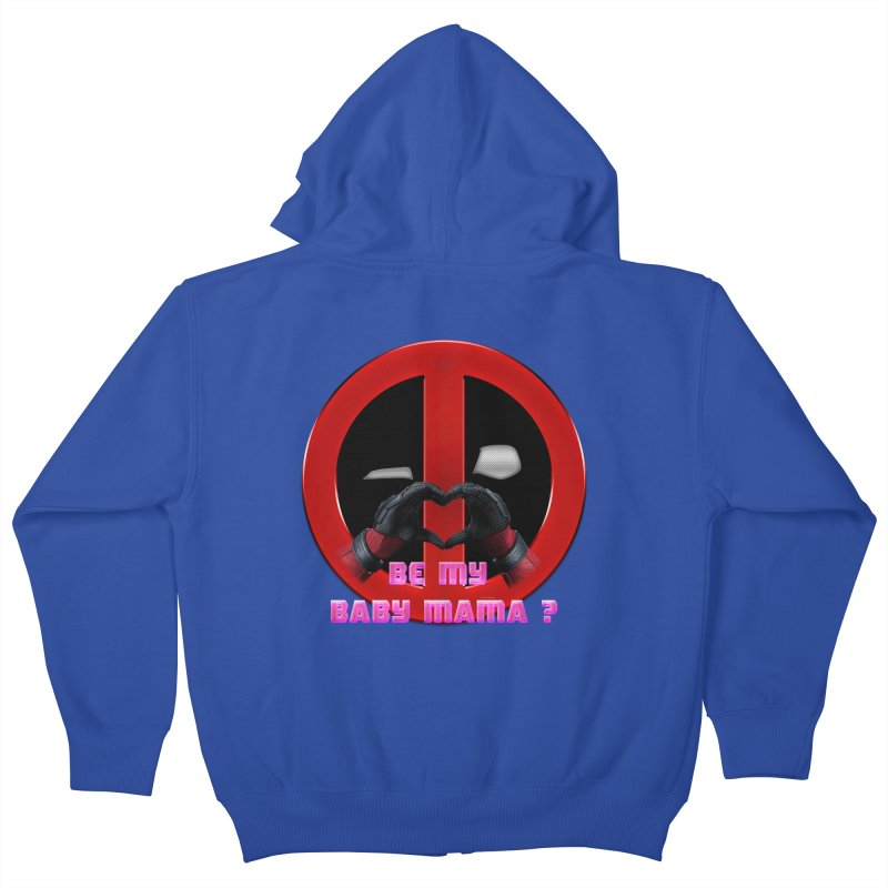 DeadPool Heart H Be My Baby Mama 2 Kids Zip-Up Hoody by ratherkool's Artist Shop