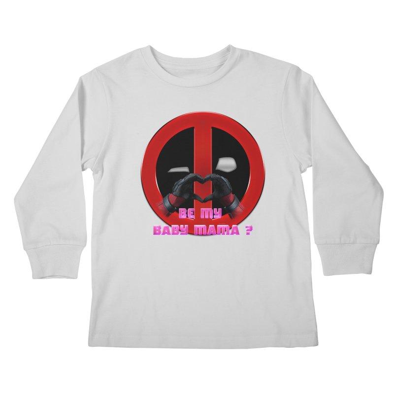 DeadPool Heart H Be My Baby Mama 2 Kids Longsleeve T-Shirt by ratherkool's Artist Shop