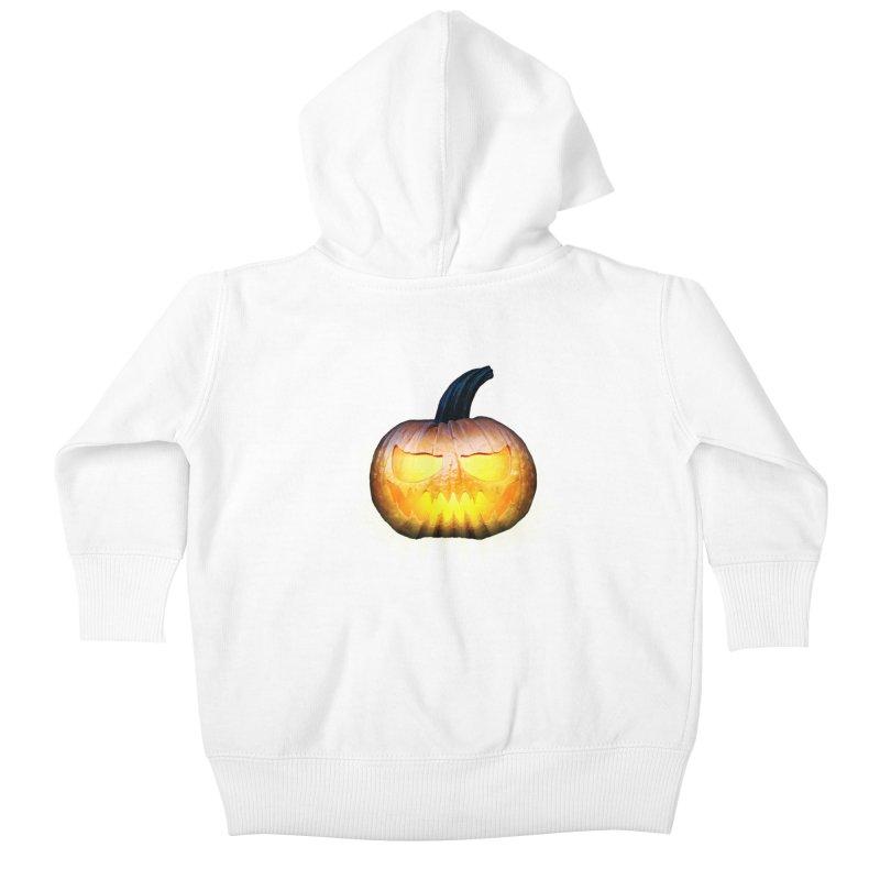 PumpKin 4 Kids Baby Zip-Up Hoody by ratherkool's Artist Shop