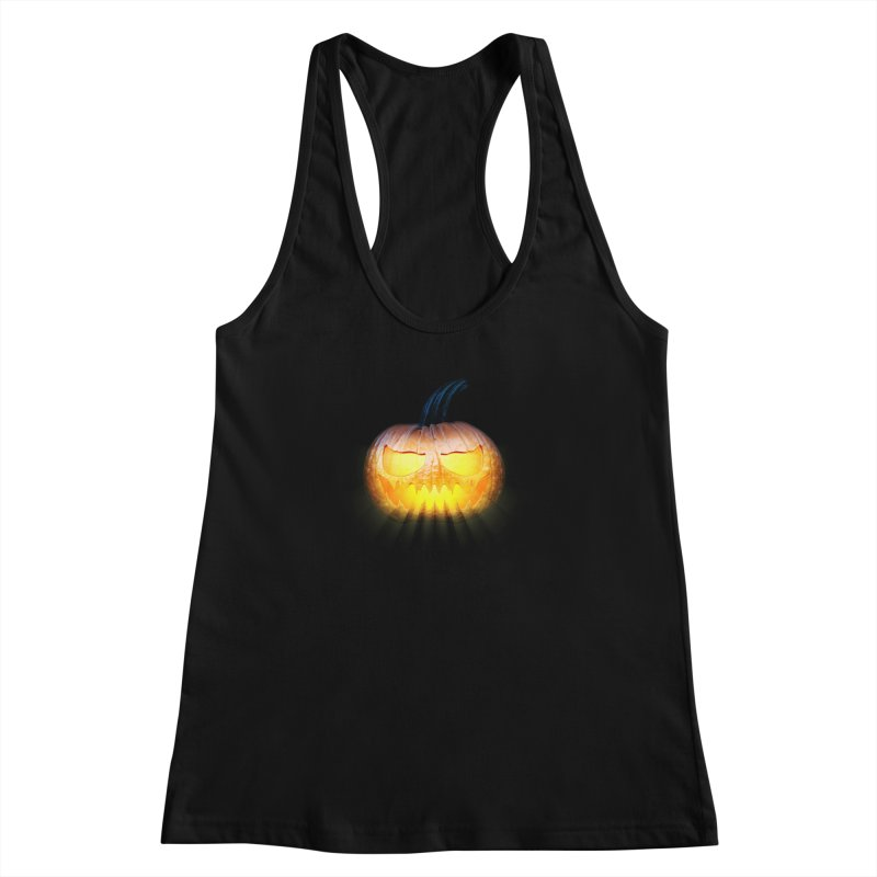 PumpKin 4 Women's Racerback Tank by ratherkool's Artist Shop