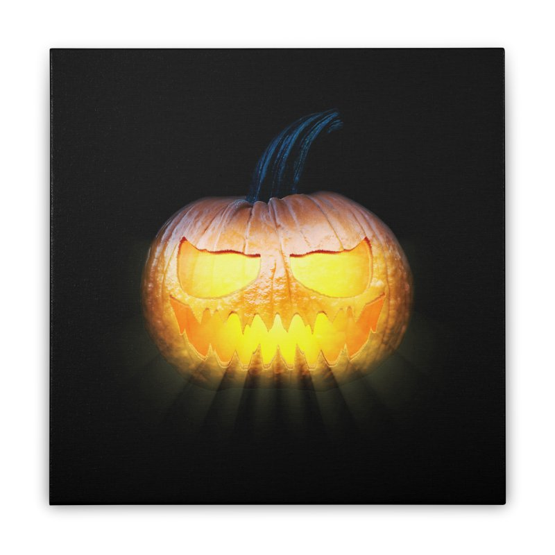 PumpKin 4 Home Stretched Canvas by ratherkool's Artist Shop