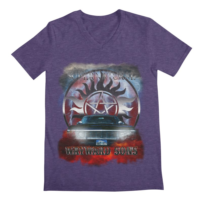 Supernatural WayWard Sons Theme Men's V-Neck by ratherkool's Artist Shop