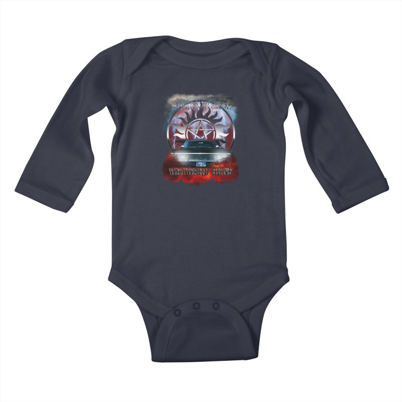 Supernatural WayWard Sons Theme Kids Baby Longsleeve Bodysuit by ratherkool's Artist Shop