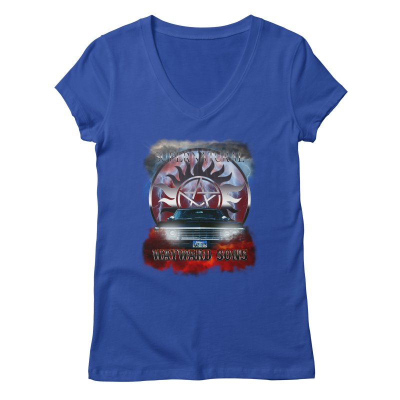 Supernatural WayWard Sons Theme Women's V-Neck by ratherkool's Artist Shop