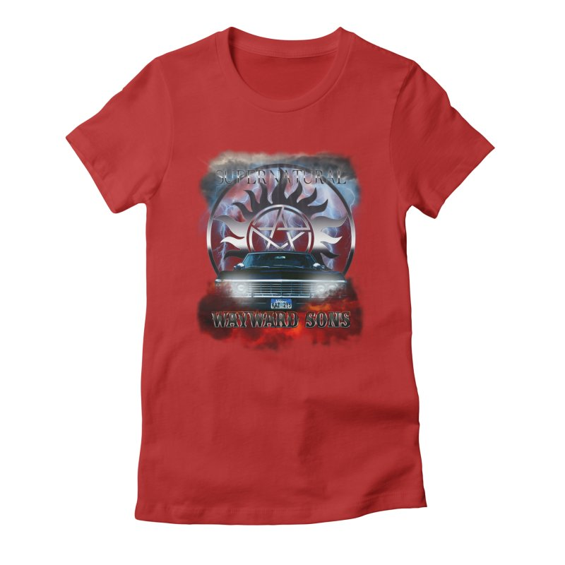 Supernatural WayWard Sons Theme Women's Fitted T-Shirt by ratherkool's Artist Shop