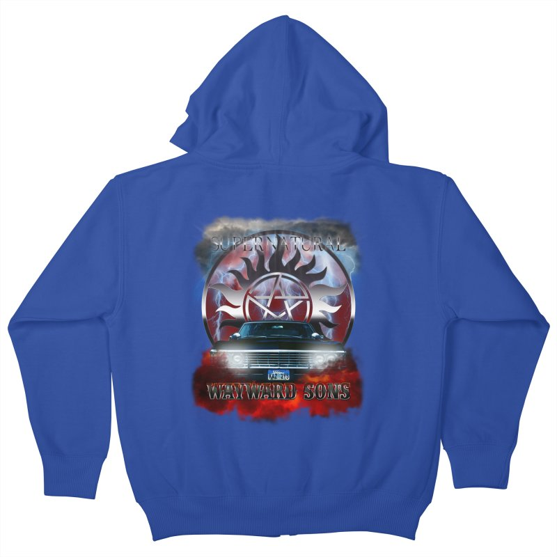 Supernatural WayWard Sons Theme Kids Zip-Up Hoody by ratherkool's Artist Shop