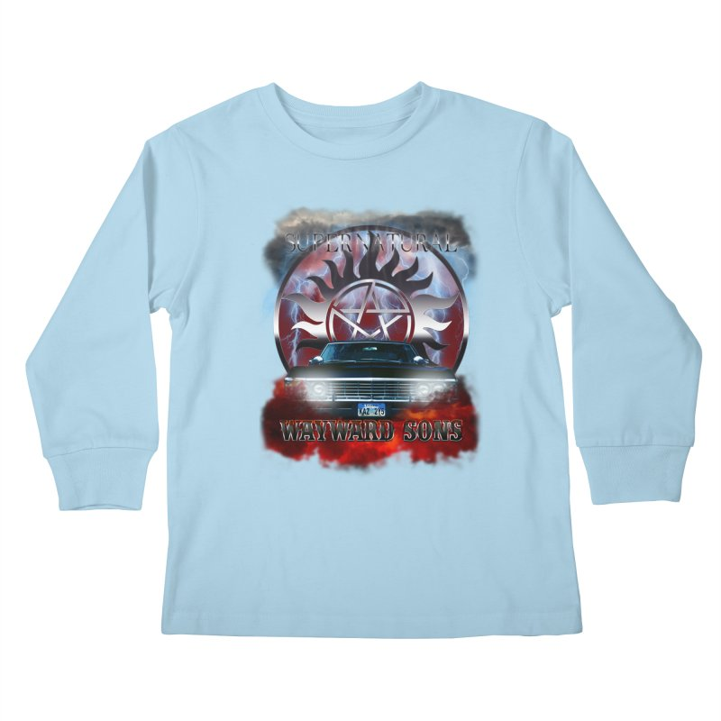 Supernatural WayWard Sons Theme Kids Longsleeve T-Shirt by ratherkool's Artist Shop