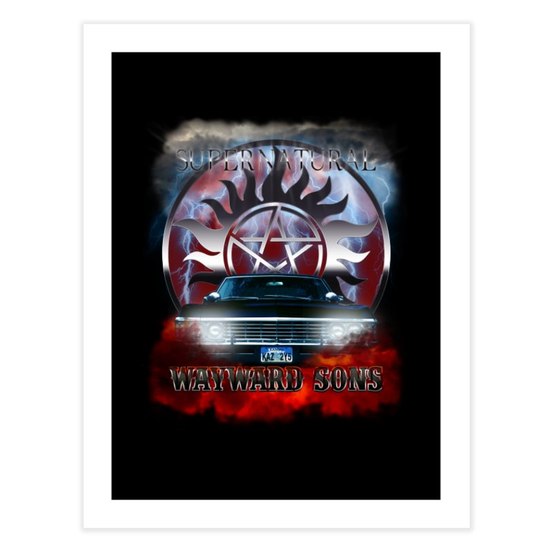 Supernatural WayWard Sons Theme Home Fine Art Print by ratherkool's Artist Shop