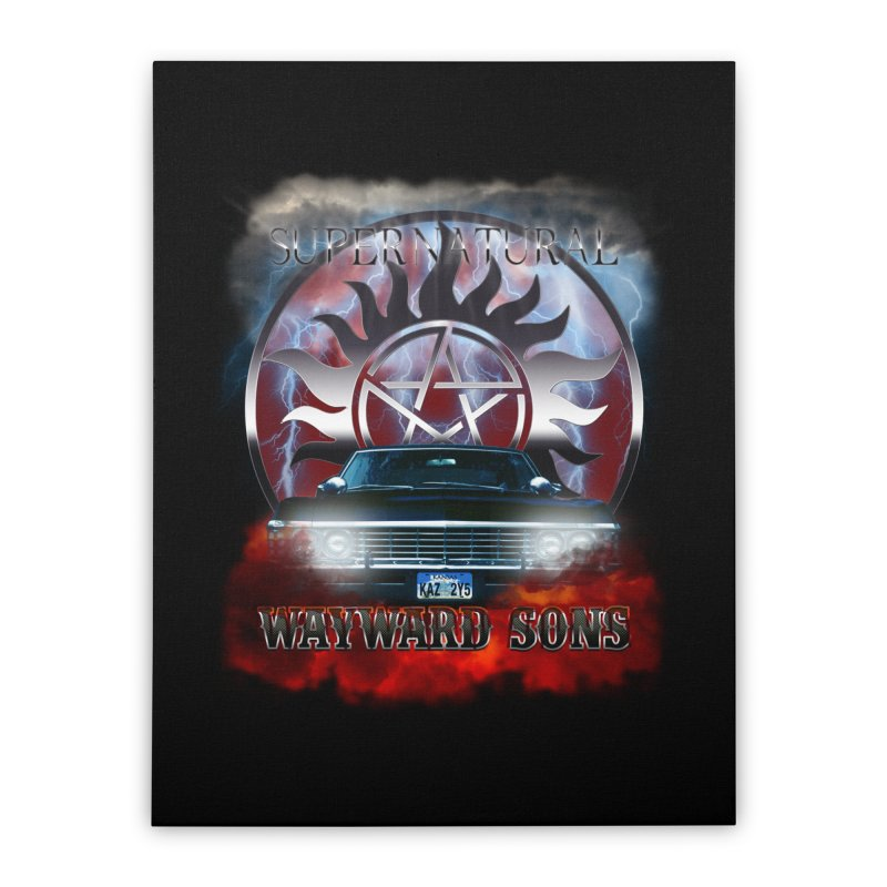 Supernatural WayWard Sons Theme Home Stretched Canvas by ratherkool's Artist Shop