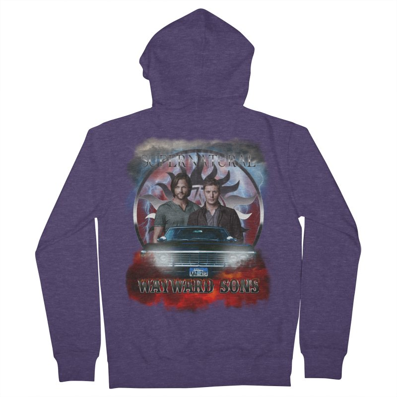 Supernatural WayWard Sons Theme 4 Men's Zip-Up Hoody by ratherkool's Artist Shop