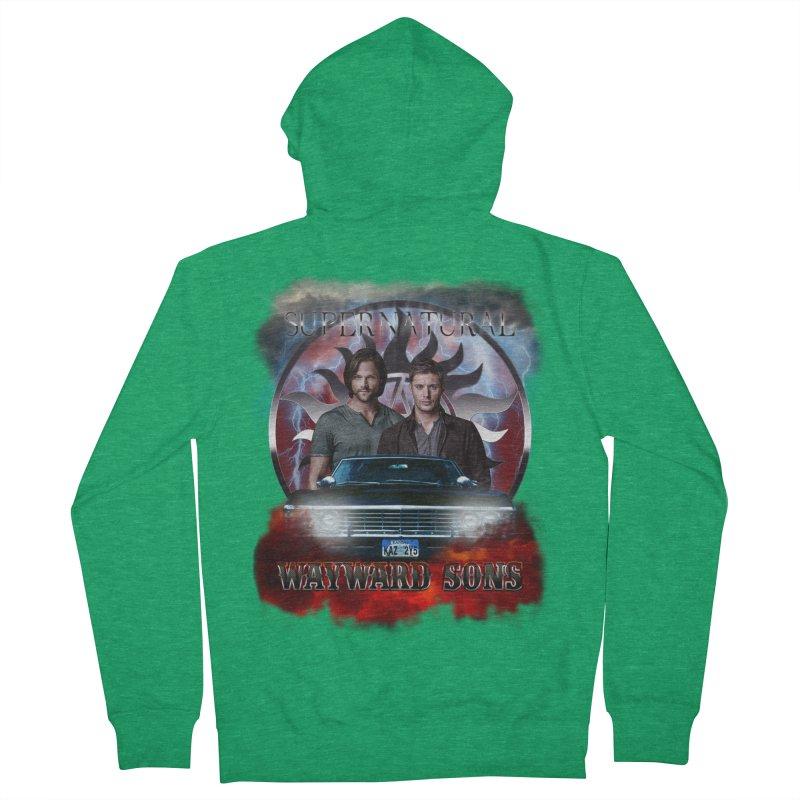 Supernatural WayWard Sons Theme 4 Men's Zip-Up Hoody by ratherkool's Artist Shop