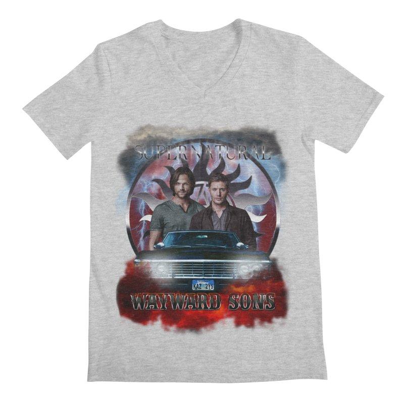 Supernatural WayWard Sons Theme 4 Men's V-Neck by ratherkool's Artist Shop
