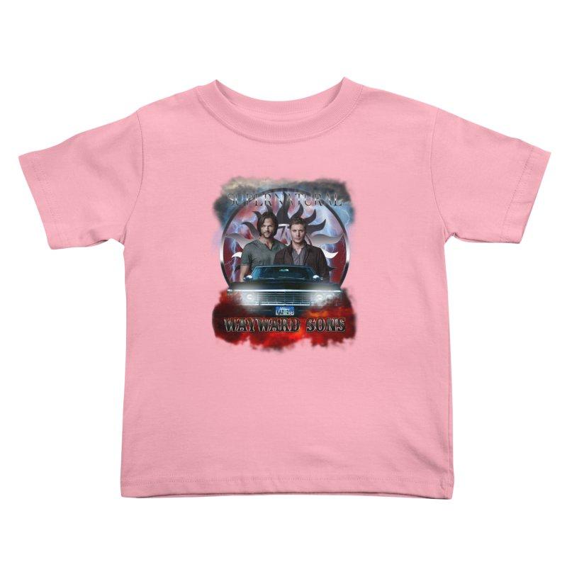 Supernatural WayWard Sons Theme 4 Kids Toddler T-Shirt by ratherkool's Artist Shop