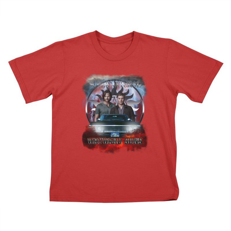 Supernatural WayWard Sons Theme 4 Kids T-Shirt by ratherkool's Artist Shop