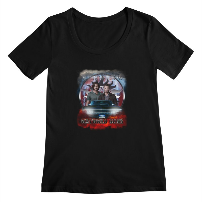 Supernatural WayWard Sons Theme 4 Women's Scoopneck by ratherkool's Artist Shop
