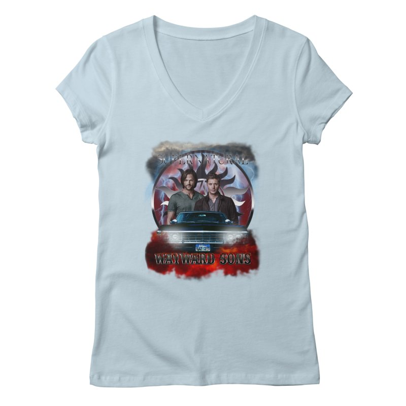 Supernatural WayWard Sons Theme 4 Women's V-Neck by ratherkool's Artist Shop