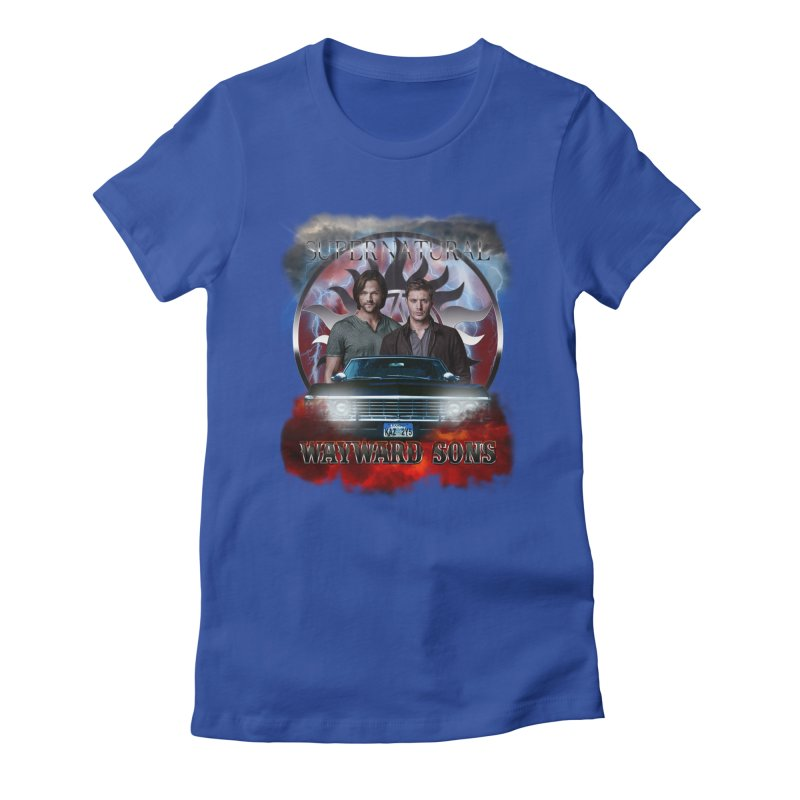Supernatural WayWard Sons Theme 4 Women's Fitted T-Shirt by ratherkool's Artist Shop